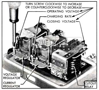 1951 Buick Generator Regulator Spring Tension Adjustments