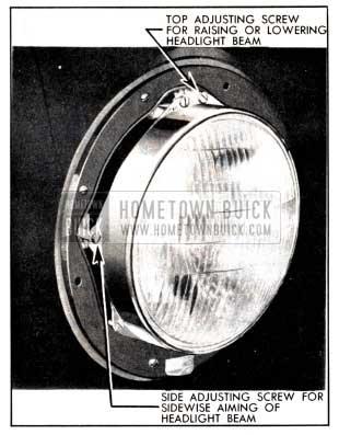 1951 Buick Headlamp Aiming Adjustments