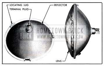 1951 Buick Headlamp Sealed Beam Unit