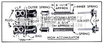 1951 Buick High and Low Accumulators-Disassembled