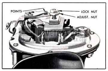 1951 Buick Horn Contact Point Adjustment
