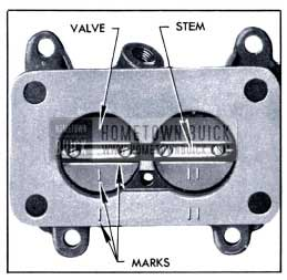 1951 Buick Identification Marks on Throttle Valves