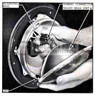 1951 Buick Installation of Headlamp Sealed Beam Unit
