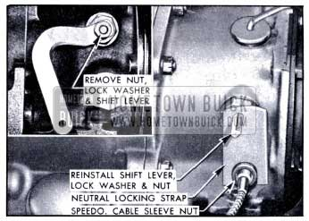 1951 Buick Installation of Neutral Locking Strap