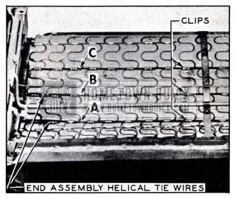 1951 Buick Installation of Tie Wires in Front Seat Cushion
