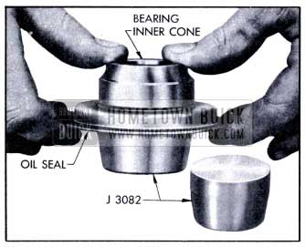 1951 Buick Installing Bearing Cone in Oil Seal with Packing Expander J 3082