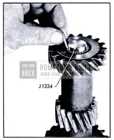 1951 Buick Installing Counter Gear Bearings with loader J 1334