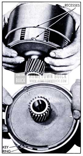 1951 Buick Installing Drum Over the Reaction Gear Flange