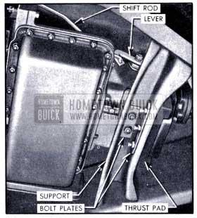 1951 Buick Left side of Dynaflow Transmission Installation