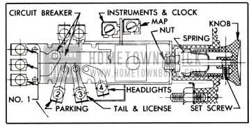 1951 Buick Lighting Switch