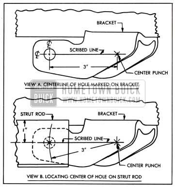1951 Buick Locating Rivet Hole in Strut Rod