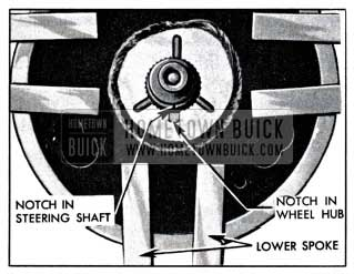 1951 Buick Location Marks on Steering Shaft and Wheel