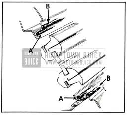 1951 Buick Location of Back Window Sealing Compounds