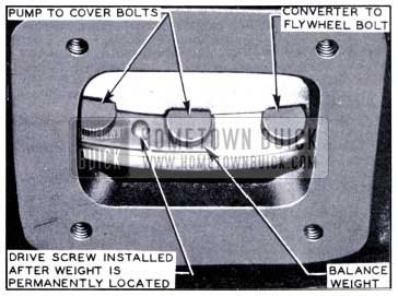 1951 Buick Location of Balance Weight