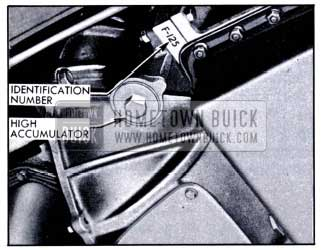 1951 Buick Location of Dynaflow Transmission Identification Number