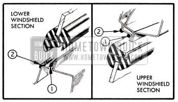 1951 Buick Location of Windshield Sealing Compounds