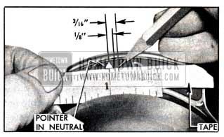 1951 Buick Marking Tape for Checking Switch Timing