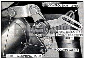 1951 Buick Neutral Safety Switch Mounting