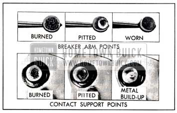 1951 Buick New and Worn Out Contact Points
