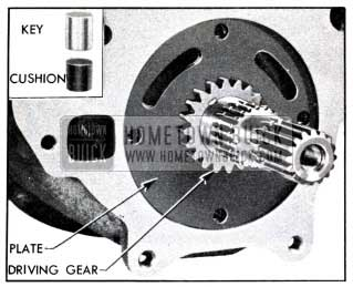 1951 Buick Oil Pump Driving Gear and Key Installed