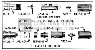1951 Buick Optional Types of Cigar Lighter