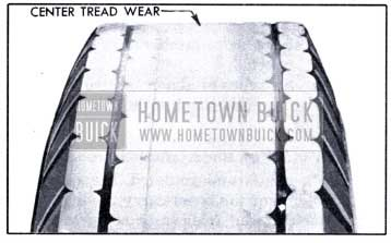 1951 Buick Overinflation Tread Wear
