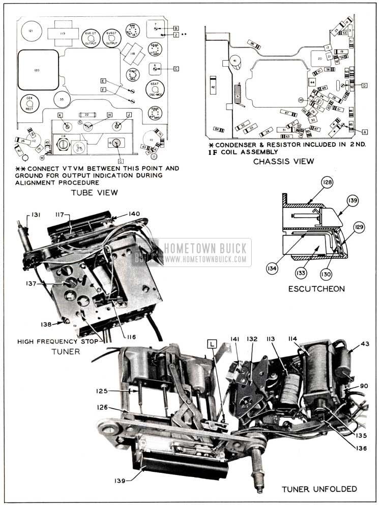 1951 Buick Parts Layout-Sonomatic Radio