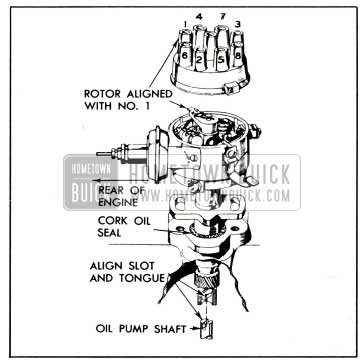 1951 Buick Position of Distributor for Installation
