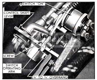 1951 Buick Position of Switch Operating Arm in Reverse