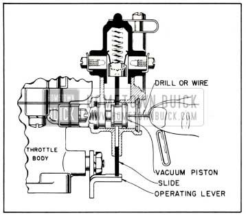 1951 Buick Pushing Vacuum Piston to Inner Position