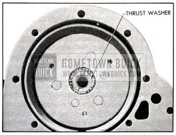 1951 Buick Reaction Gear Thrust Washer in Place