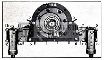 1951 Buick Reaction Shaft Flange and Accumulator Bolt Tightening Sequence