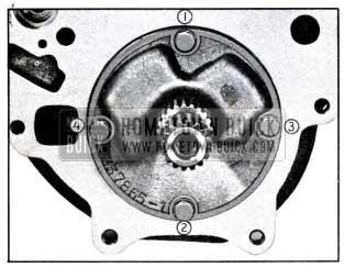 1951 Buick Rear Oil Pump Bolt Tightening Sequence