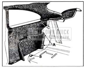1951 Buick Rear Quarter Arm Rest and Trim