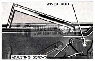1951 Buick Rear Quarter Window Adjustments