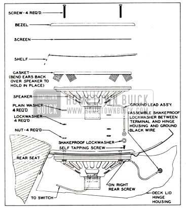 1951 Buick Rear Seat Speaker Installation