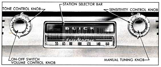 1951 Buick Receiver Controls-Selectronic Radio