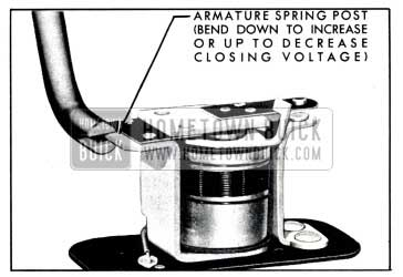 1951 Buick Relay Closing Voltage Adjustment
