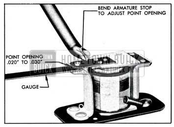 1951 Buick Relay Contact Point Adjustment