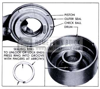 1951 Buick Removal of Clutch Piston and Oil Sealing Ring