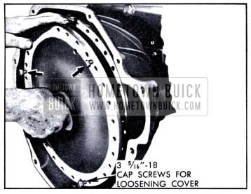 1951 Buick Removal of Converter Pump Cover