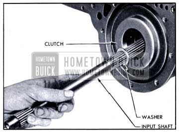 1951 Buick Removal of Input Shaft and Clutch Hub Thrust Washer