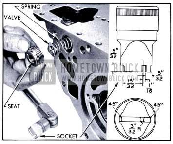 1951 Buick Removal of Lubrication Oil Pressure Regulator Valve