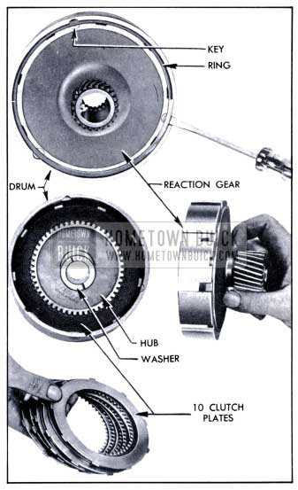1951 Buick Removal of Reaction Gear, Hub, and Plates