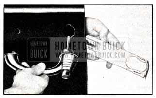 1951 Buick Removal of Retainer and Door Outside Handle