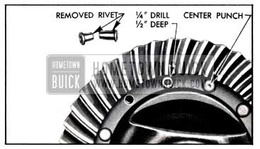 1951 Buick Removal of Ring Gear Rivets