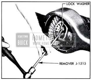 1951 Buick Removing Axle Shaft Lock Washer