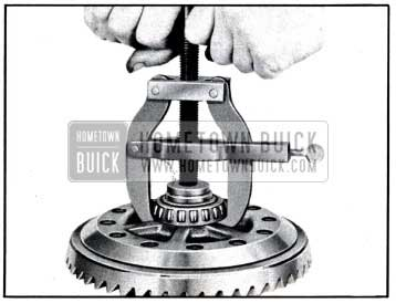 1951 Buick Removing Differential Bearing, Using Puller J 2241