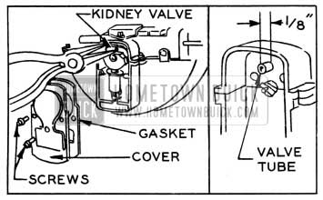 1951 Buick Removing Kidney Valve and Checking Tube