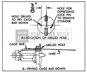 1951 Buick Removing Lock Cylinder having a Loose Cage Bar